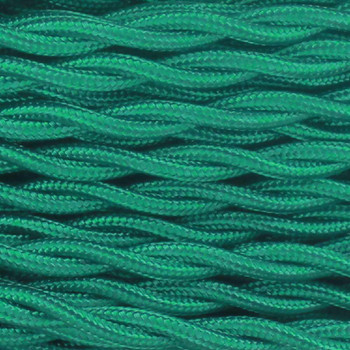 18/2 Twisted Green Rayon Covered Wire