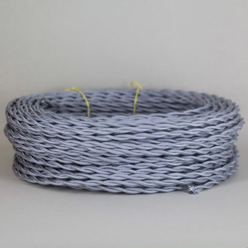 18/2 Twisted Gray Rayon Covered Wire