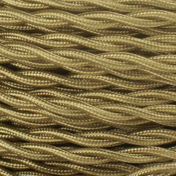 18/2 Twisted Harvest Gold Rayon Covered Wire