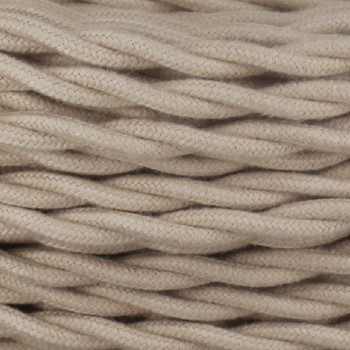 18/2 Twisted Beige Cloth Covered Wire