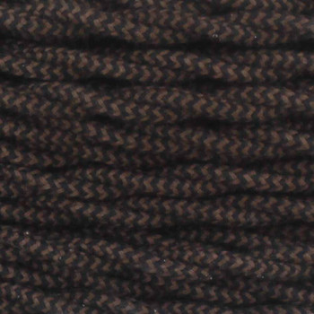 18/2 Twisted Black/Brown Zig-Zag Pattern Cotton Cloth Covered Wire