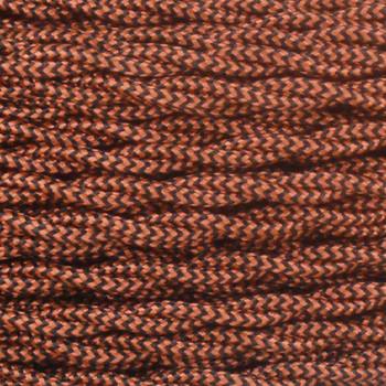 18/2 Twisted Black/Copper Zig-Zag Pattern Rayon Covered Wire