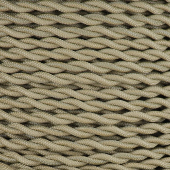 18/2 AWG SPT-1 Type - Antique Gold - UL Recognized Cloth Covered Twisted Wire.