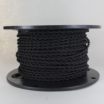 18/2 AWG SPT-1 Type - Black - UL Recognized Cloth Covered Twisted Wire.