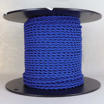18/2 AWG SPT-1 Type - Blue - UL Recognized Cloth Covered Twisted Wire.