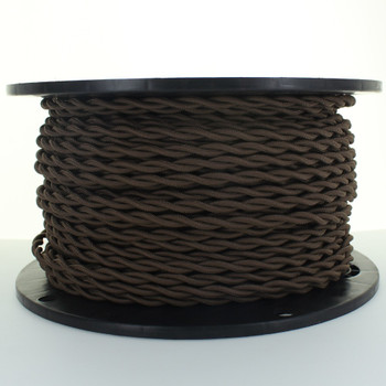 18/2 AWG SPT-1 Type - Brown - UL Recognized Cloth Covered Twisted Wire.
