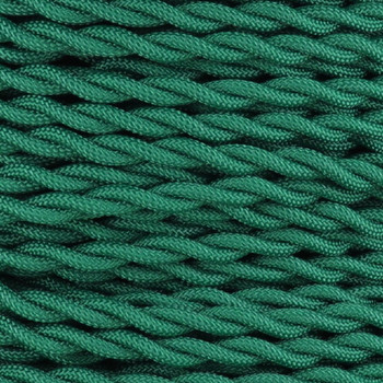 18/2 AWG SPT-1 Type - Green - UL Recognized Cloth Covered Twisted Wire.