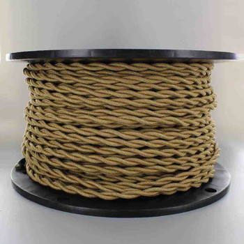 18/2 AWG SPT-1 Type - Gold - UL Recognized Cloth Covered Twisted Wire.