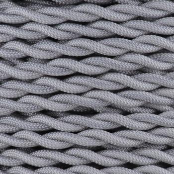 18/2 AWG SPT-1 Type - Silver - UL Recognized Cloth Covered Twisted Wire.