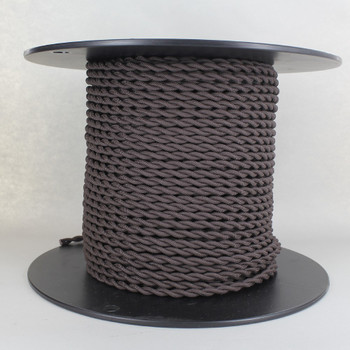 18/2 AWG SPT-1 Type - Cappuccino - UL Recognized Cloth Covered Twisted Wire.
