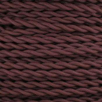 18/2 AWG SPT-1 Type - Mahogany - UL Recognized Cloth Covered Twisted Wire.