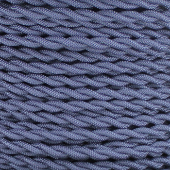 18/2 AWG SPT-1 Type - Navy Blue - UL Recognized Cloth Covered Twisted Wire.