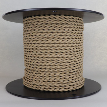 18/2 AWG SPT-1 Type - Tan - UL Recognized Cloth Covered Twisted Wire.