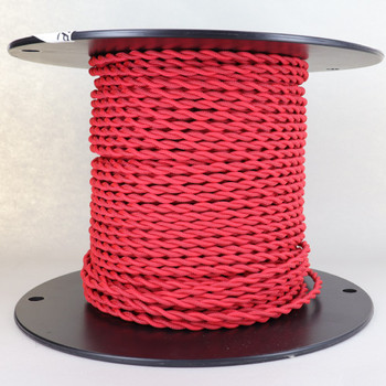 18/2 AWG SPT-1 Type - Red - UL Recognized Cloth Covered Twisted Wire.