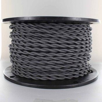 18/2 AWG SPT-1 Type - Gray - UL Recognized Cloth Covered Twisted Wire.