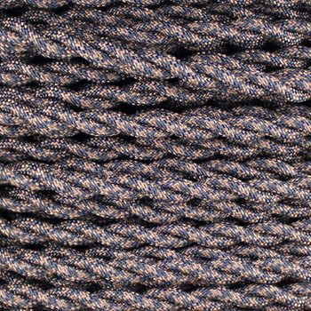 18/2 AWG - SPT-1 BLACK/BROWN HOUNDS TOOTH PATTERN TWISTED FABRIC CLOTH COVERED LAMP WIRE