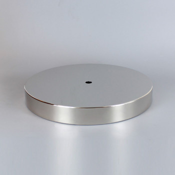 1/8ips Center Hole - 8in Flat Canopy/Base without Wire Way - Polished Nickel