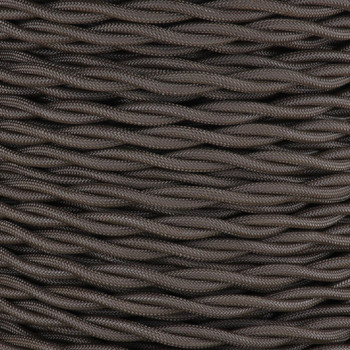 18/2 AWG - BARK TWISTED FABRIC CLOTH COVERED LAMP WIRE