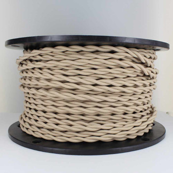 18/2 AWG - BEIGE TWISTED FABRIC CLOTH COVERED LAMP WIRE