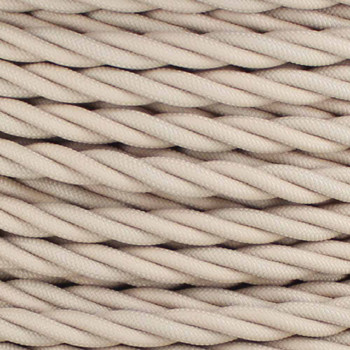 18/3 AWG - BEIGE TWISTED FABRIC CLOTH COVERED LAMP WIRE