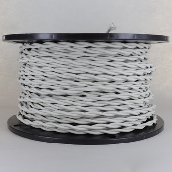 18/2 AWG - OATMEAL TWISTED FABRIC CLOTH COVERED LAMP WIRE