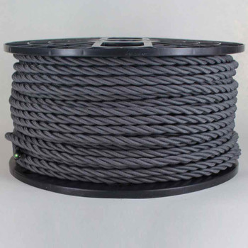 18/3 AWG - GRAY TWISTED FABRIC CLOTH COVERED LAMP WIRE