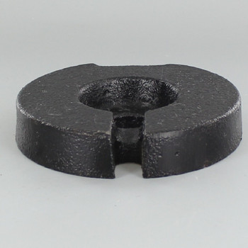 4in. Cast Iron Weight with 9/16 Slip Through Center Hole.