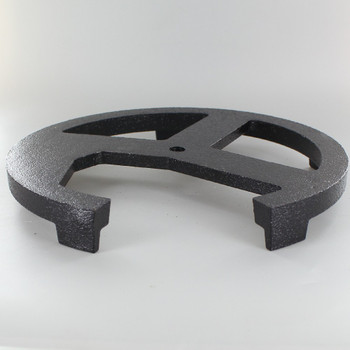 9-1/2in. Cast Iron Steering Wheel Weight with Small Feet and 1/4ips. Threaded Center Hole