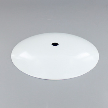 1/8ips Center Hole - Modern Dome Canopy - White Powedercoat Finish