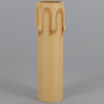 100mm (3-15/16in) Long Hard Plastic European Candle Cover - Antique Drip