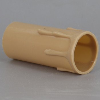 3in. Long Plastic E-26 Base Candle Socket Cover - Edison - Antique Drip