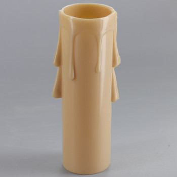 3in. Long Plastic E-12 Base Candle Socket Cover - Candelabra - Antique Drip