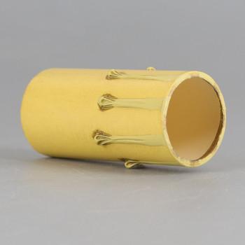 Import - 2in. Long Paper/Fiber E-12 Candelabra Base Candle Socket Cover - Antique Drip.