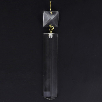 100mm (4in.) Crystal Colonial with Square Jewel and Brass Clip