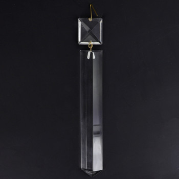 150mm (6in.) Crystal Colonial with Square Jewel and Brass Clip