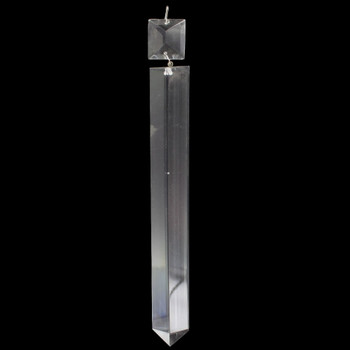 200mm (8in.) Crystal Colonial with Square Jewel and Brass Clip