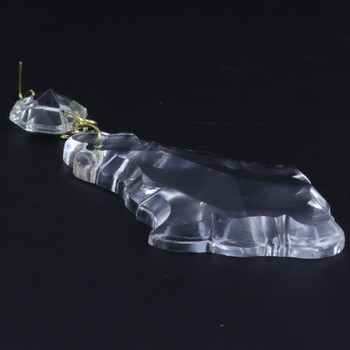 76mm (3in.) Crystal French Pendulux with Jewel and Brass Clip