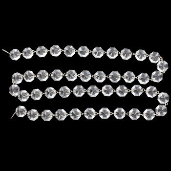 16mm. Small Uniform Crystal Nickel Pin Chain