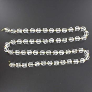 12mm. Crystal  Cut and Faceted Round Beaded with Brass Pin Chain