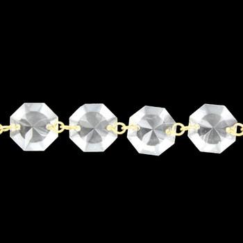 16mm. Small Uniform Crystal Brass Pin Chain