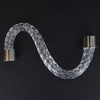 6in. Roped Crystal S-Arm with Chrome Ferrules.