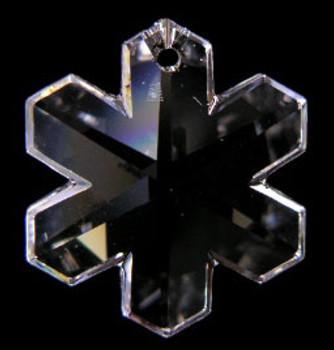 35mm. Strass Swarovski Crystal Snowflake with Pin Hole