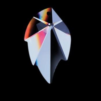32mm. Strass Swarovski Crystal Leaf with Pin Hole