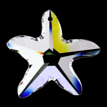 40mm. Strass Swarovski Crystal Starfish with Pin Hole