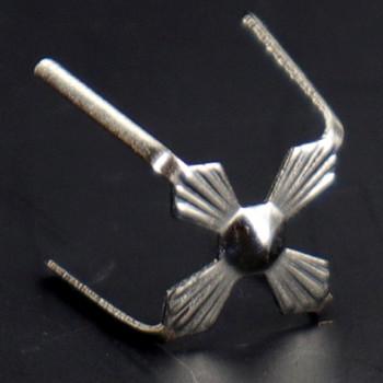12mm Chrome Plated Four-Legged Bowtie Clip