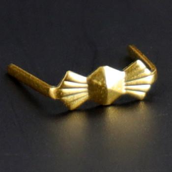8mm. Gold Bowtie Clip