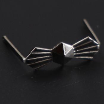 13mm. Chrome Bowtie Clip