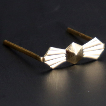 13mm. Gold Bowtie Clip with Long Legs