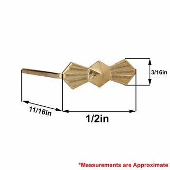 13mm. Chrome Bowtie Clip with Long Legs