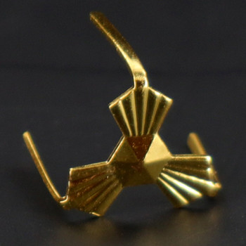 12mm Gold Plated Three-Legged Bowtie Clip